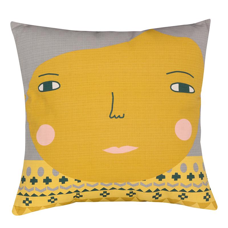 Donna Wilson Meg Cushion Yellow Front