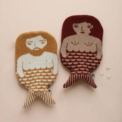 Merman and Mermaid Hot Water Bottles - Donna Wilson