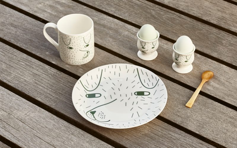 Donna Wilson - Scamp Mug, Plate and Egg Cup