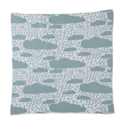 Clouds Duck Egg Mini Blanket Donna Wilson