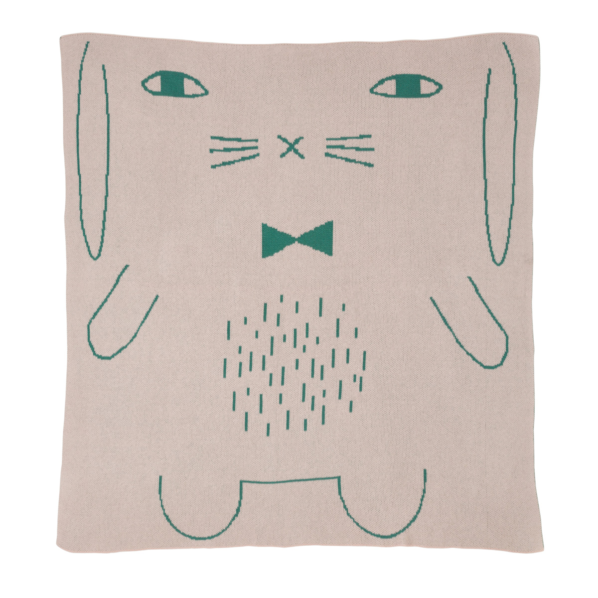 Rabbit Cotton Pink Mini Blanket Donna Wilson