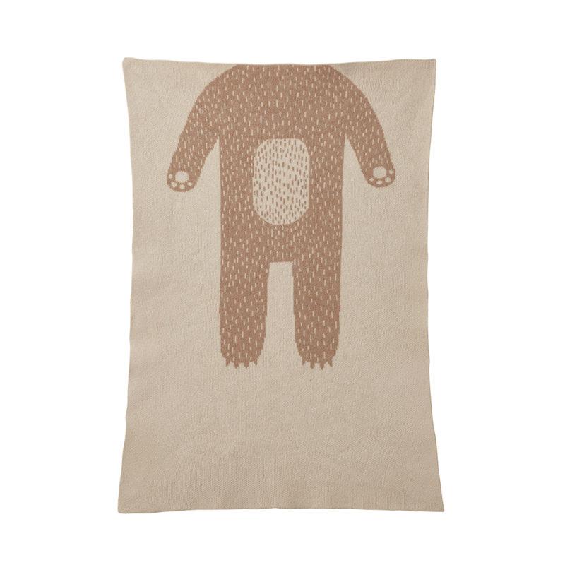 Mini Blanket - Bear Mini Blanket Oatmeal - Donna Wilson