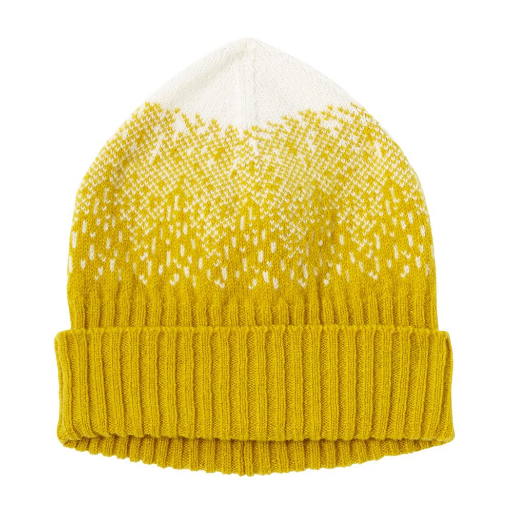 Donna Wilson - Mountain Peak Hat - Mustard / White