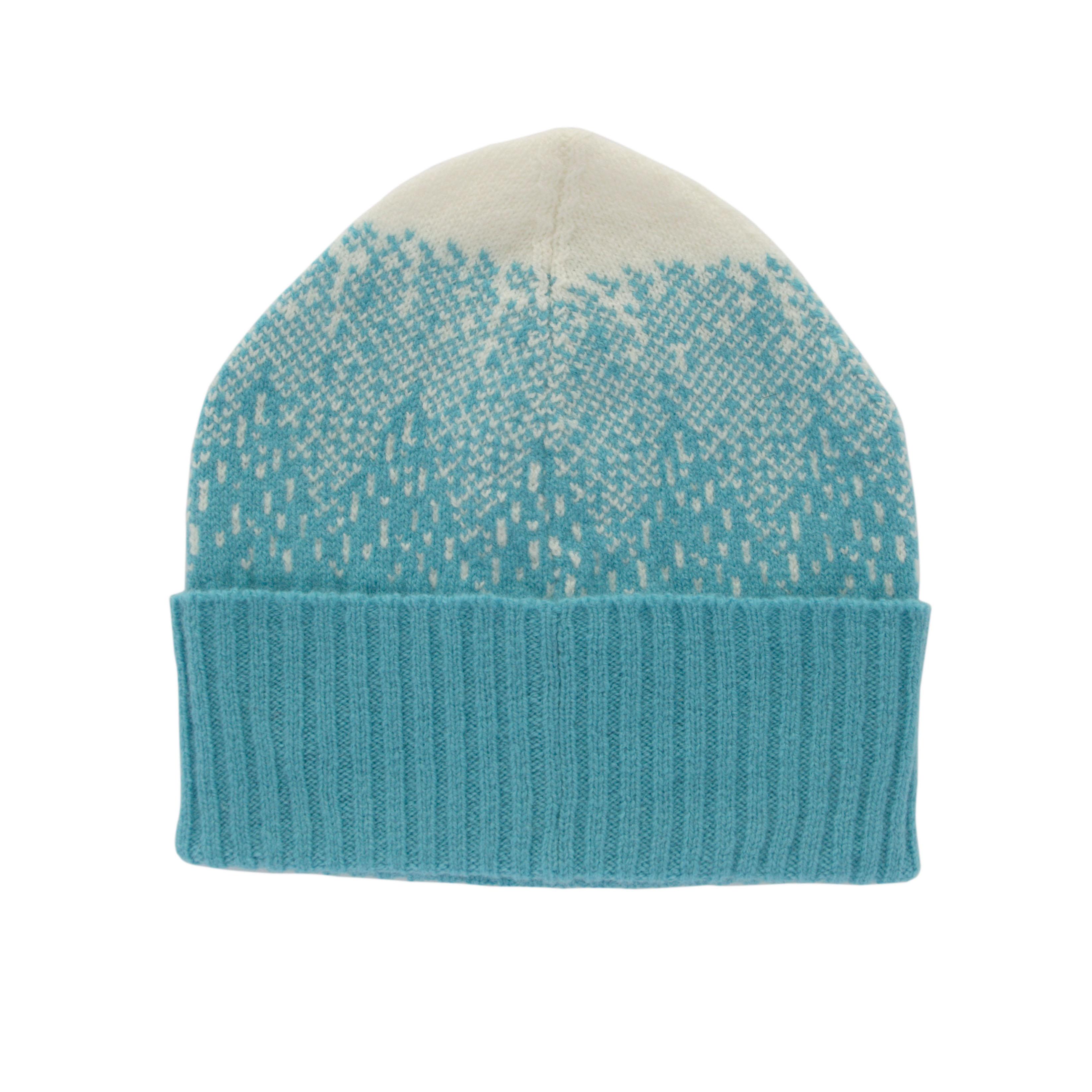Donna Wilson - Mountain Peaks Hat - Blue White