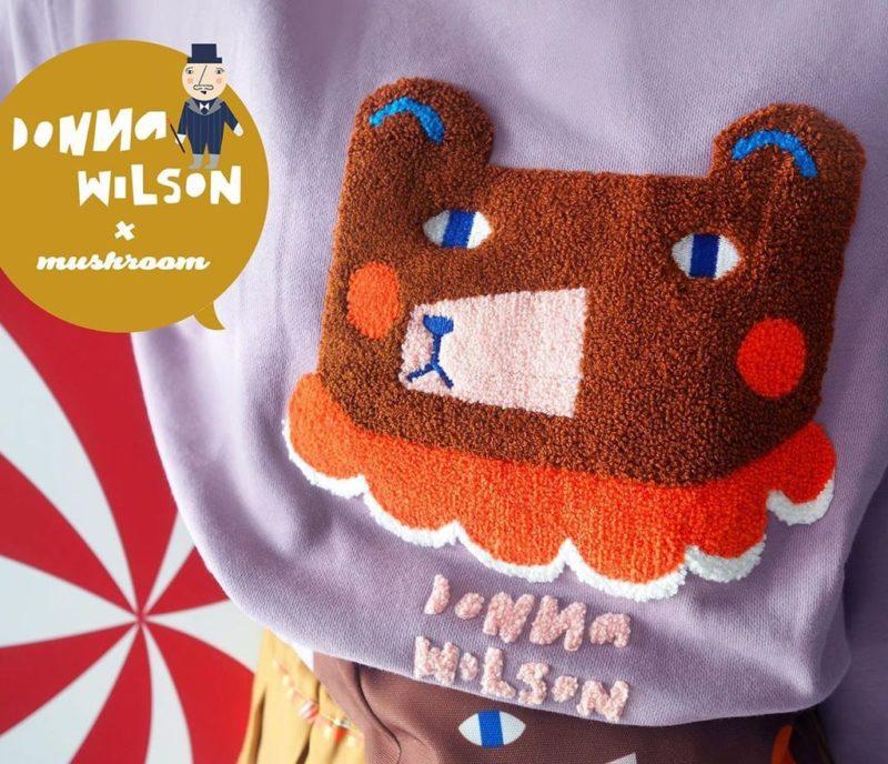 Mushroom Circus Bear Sweatshirt - Lavender - Donna Wilson