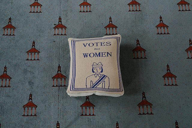 Votes For Women Cushion - Donna Wilson for Glasgow Women's Library