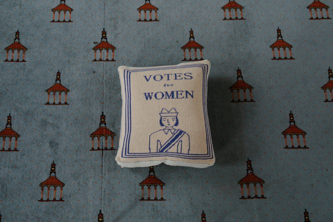 Donna Wilson - 'Votes For Women' Cushion. Photo by Caro Weiss.