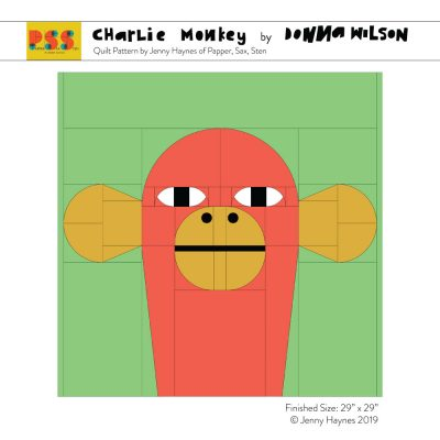 Charlie Monkey Quilted Cushion Kit - Donna Wilson x Papper, Sax, Sten