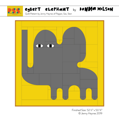 Egbert Elephant Quilted Throw Kit - Donna Wilson x Papper, Sax, Sten