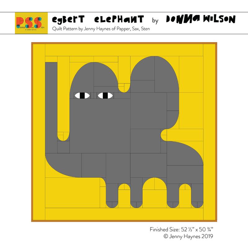 Egbert Elephant Quilted Throw Kit - Donna Wilson x Papper, Sax, Sten