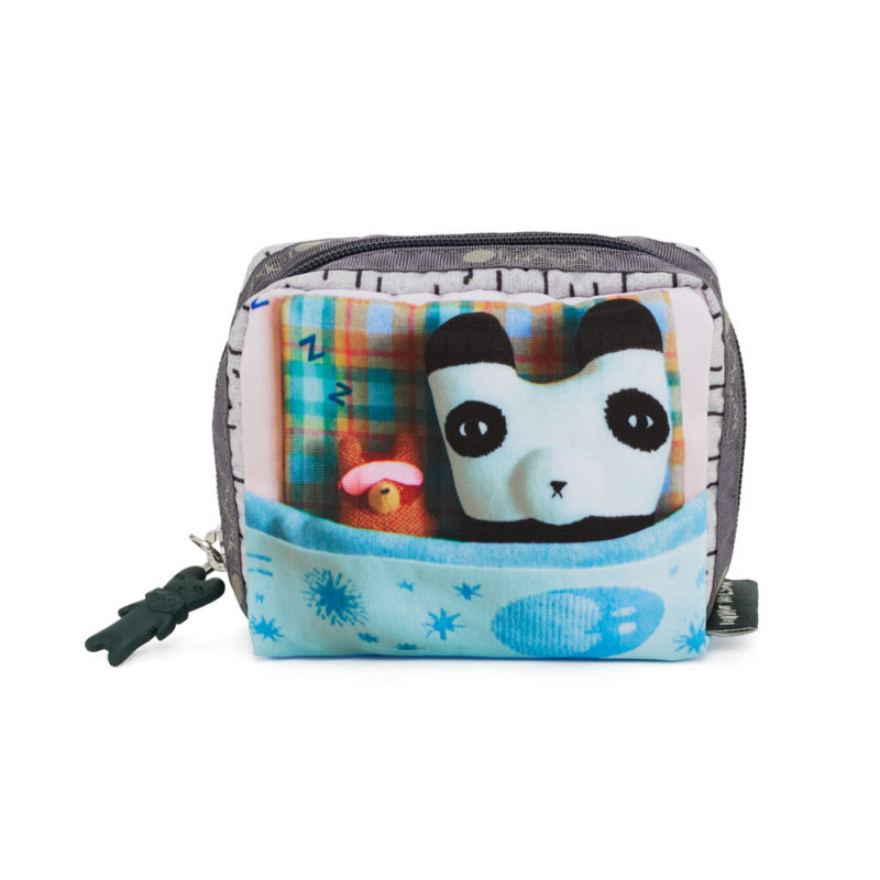 Le Sportsac x Donna Wilson Square Cosmetic Bag - Panda Eyes