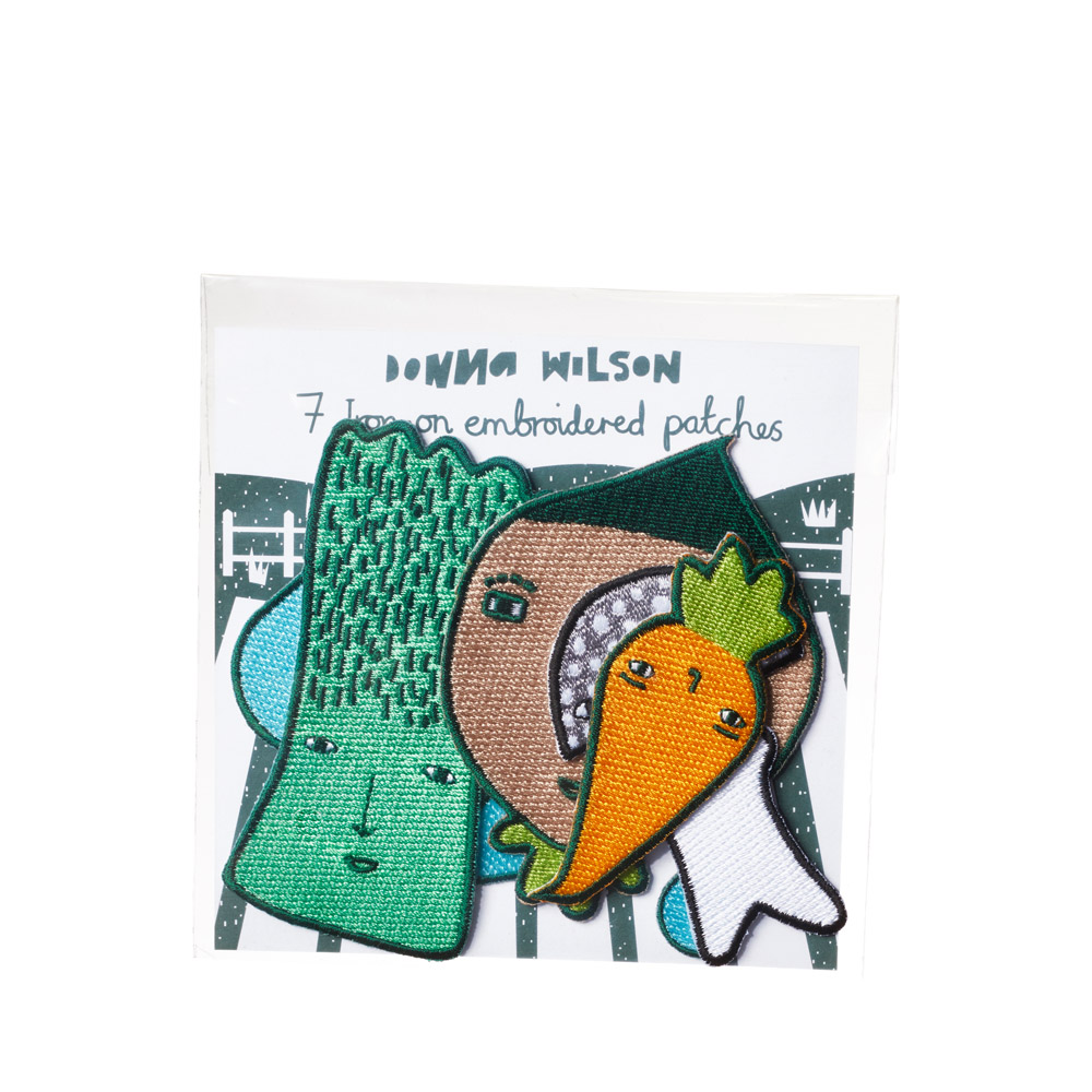 Donna Wilson Vegetable Patch Iron-On Embroidered Patches