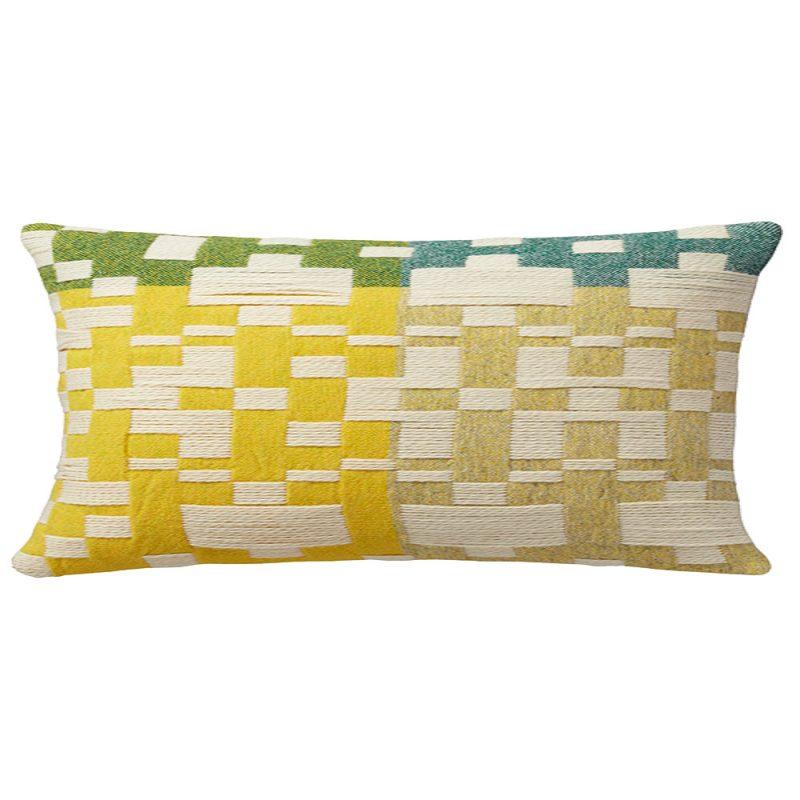 Donna Wilson - Pennan Long Cushion - Green/Yellow