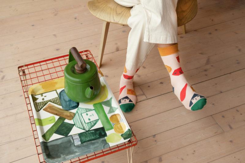 Pick 'n' Mix Socks & Kaleido Tray - Donna Wilson