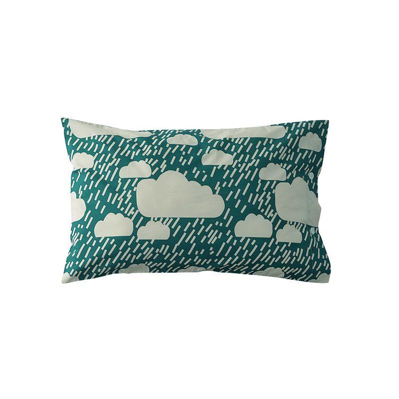 Donna Wilson - Rainy Day Bed Set - Dark Blue - Pillowcase - Front