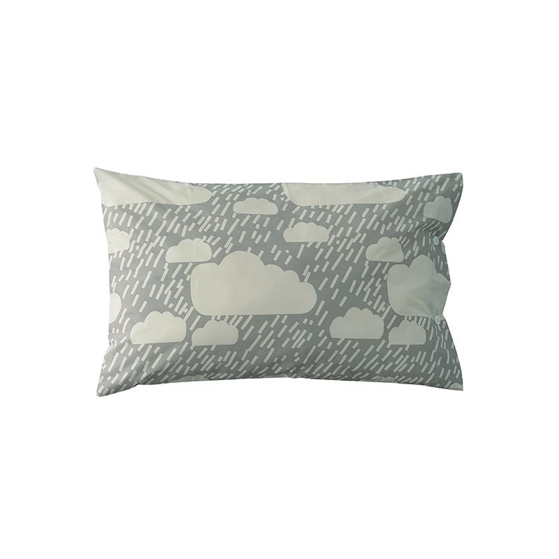 Donna Wilson - Rainy Day Bed Set - Grey - Pillowcase - Front