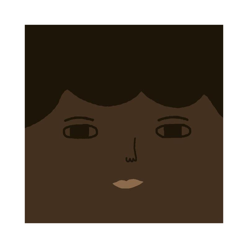 Robin Cushion - Deep Tone, Black Hair & Brown Eyes