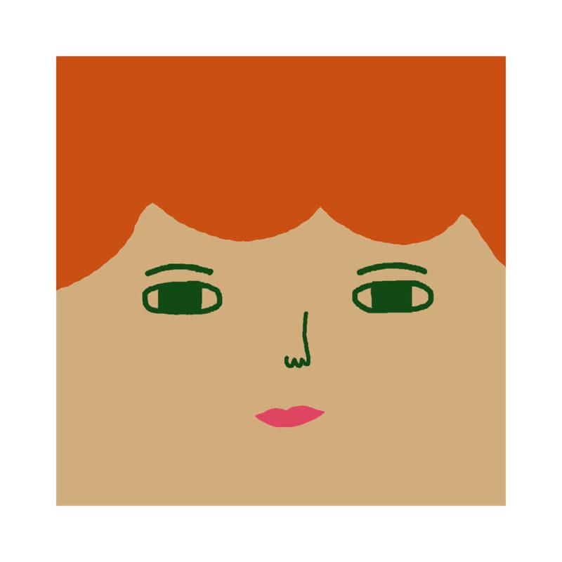 Robin Cushion - Light Tone, Ginger Hair & Green Eyes