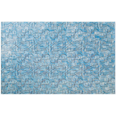 Blue Lines Rug by Donna Wilson for SCP