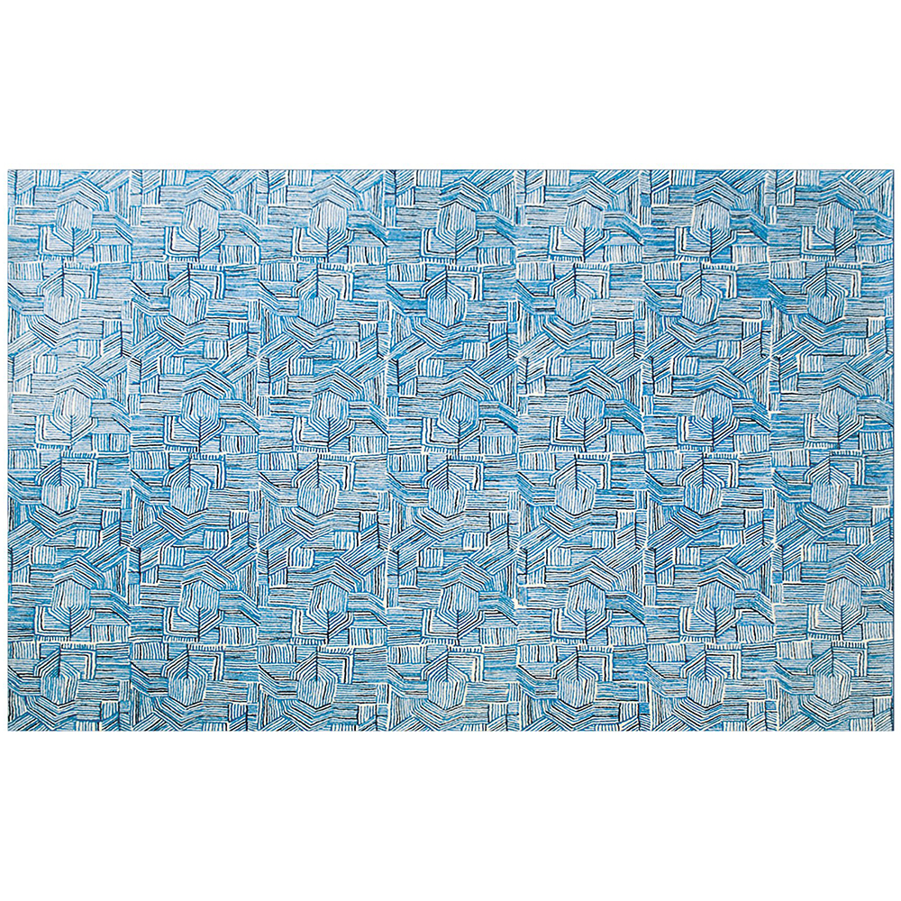 Blue Line Rug By Donna Wilson For Scp