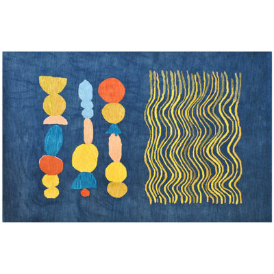 Waves and Ovals Rug by Donna Wilson for SCP