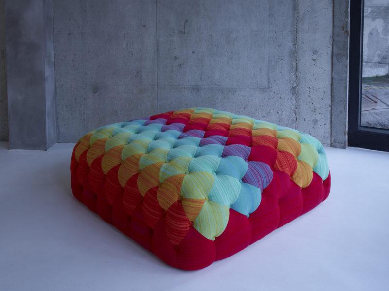 Motley Ottoman - Rainbow - Donna Wilson for SCP