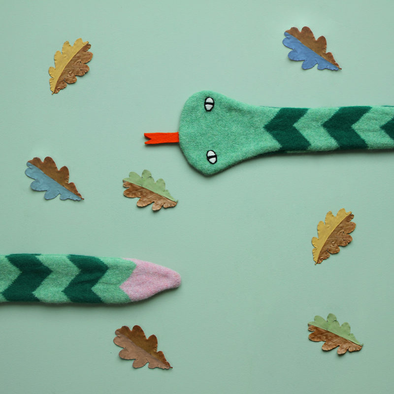 Snake Scarf - Green/Pink - Donna Wilson