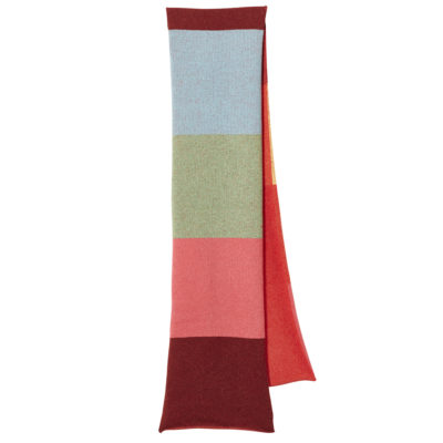 Colour Block Scarf - Rust - Donna Wilson