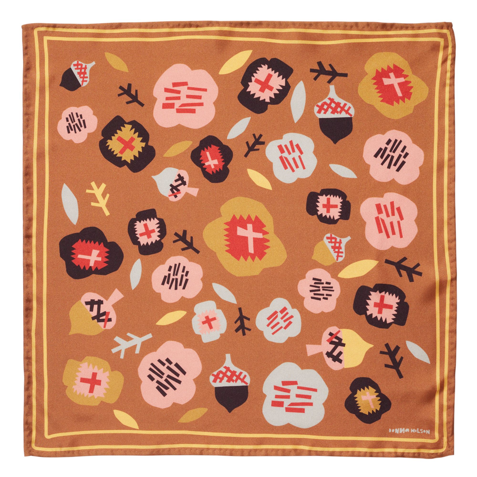 Donna Wilson - Flower Silk Scarf - Gold