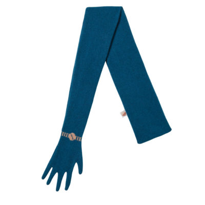 Scarves - Glove Scarf - Blue