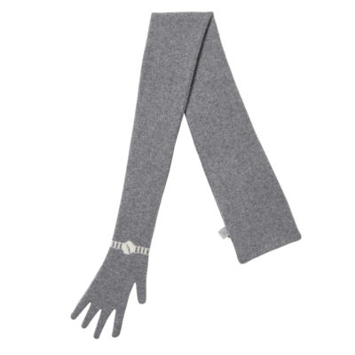 Scarves - Glove Scarf - Grey