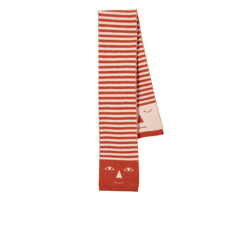 Stripy Head Scarf - Pink + Rust - Donna Wilson