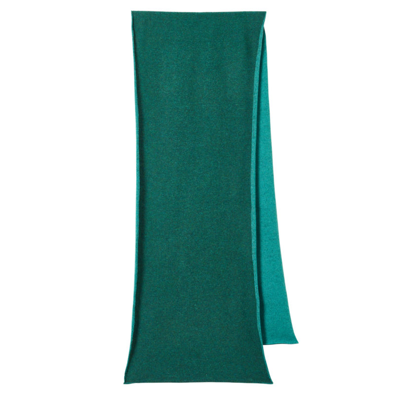 Scarves - Two Tone Scarf - Green + Emerald