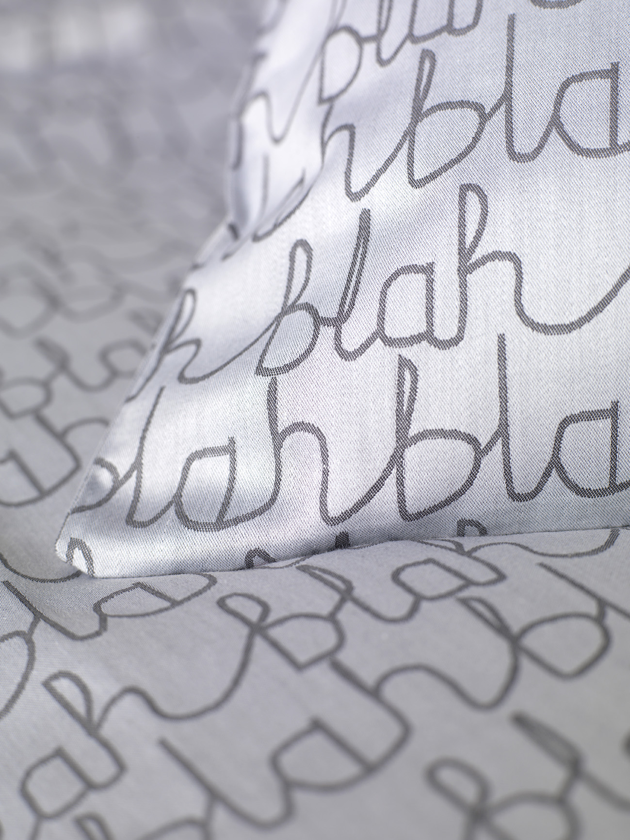 Donna Wilson Collaboration for Secret Linen Store, Blah Blah Bed Linen Corner, double duvet £75, pillowcase £15