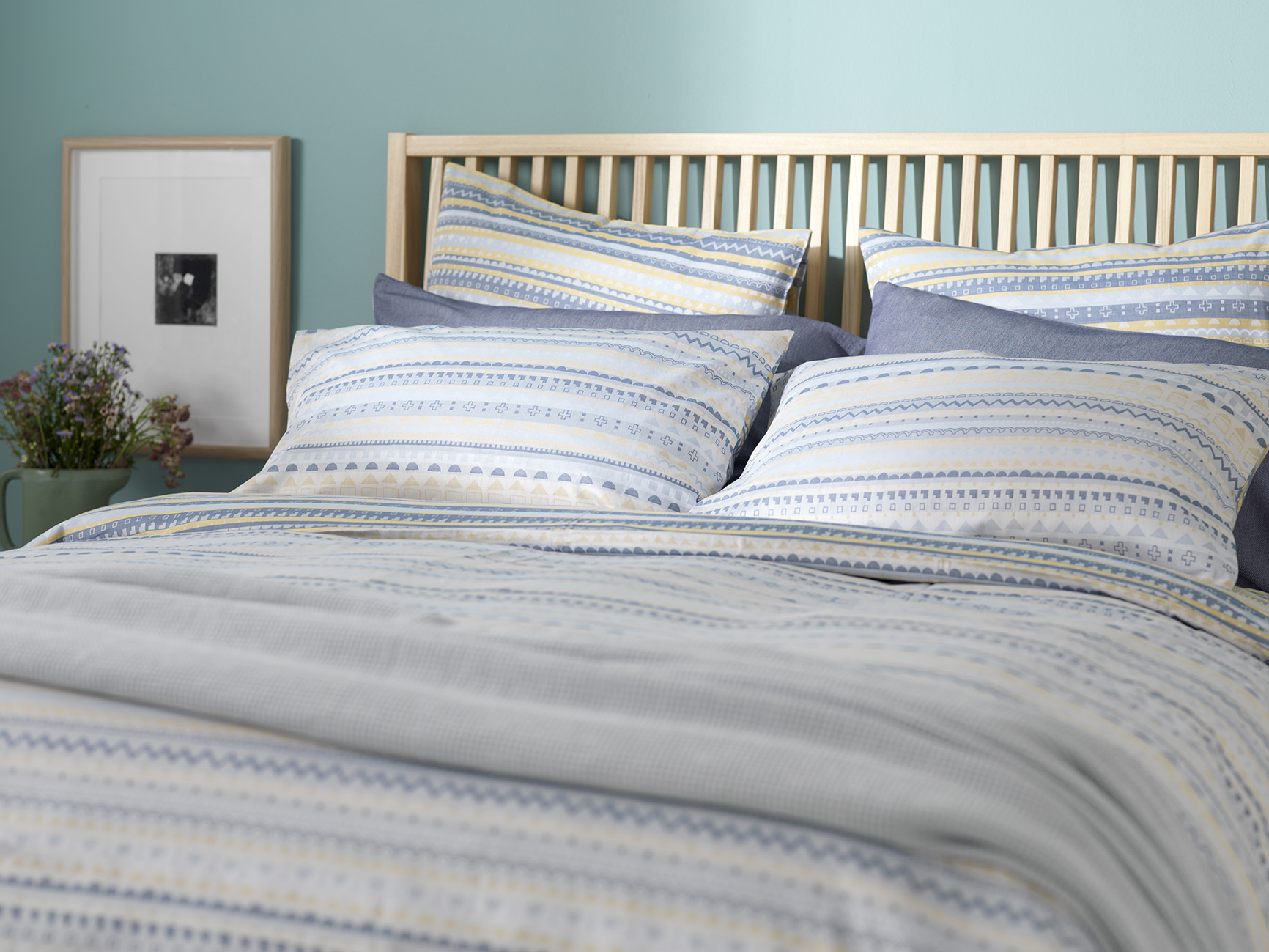 Donna Wilson Collaboration For Secret Linen Store, Scandi Bed Linen,  Landscape, Double Duvet