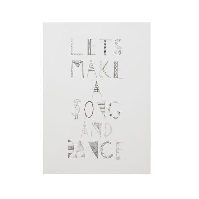 Let's Make a Song and Dance Art Print - Donna Wilson