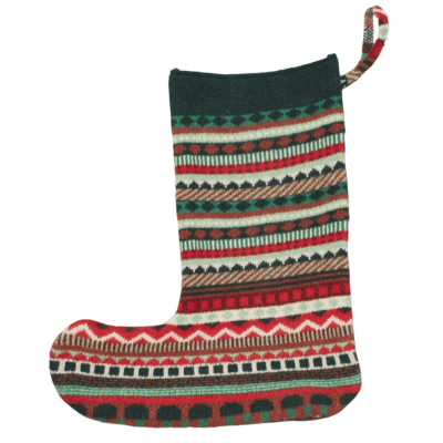 Stationery - Knitted Xmas Stocking Green - Donna Wilson