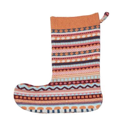 Stationery - Knitted Xmas Stocking Orange - Donna Wilson