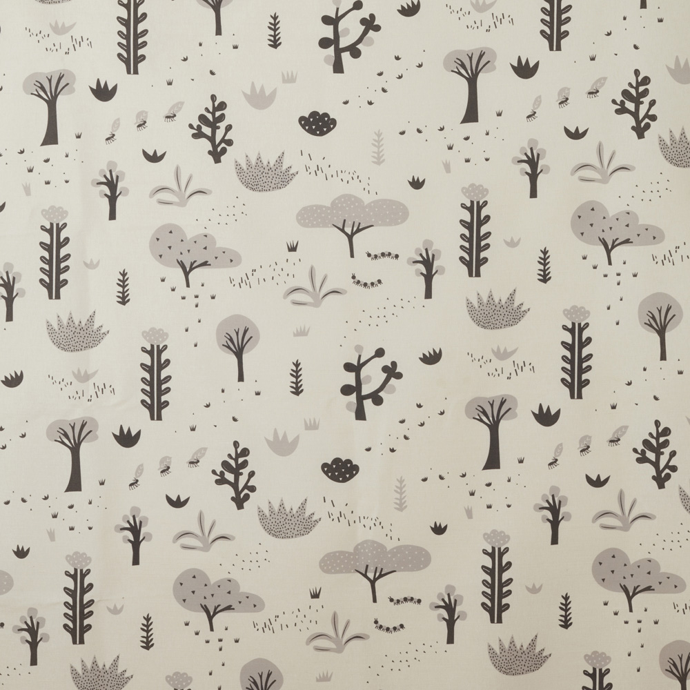 Succulents Oyster Linen Fabric