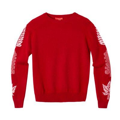 Donna Wilson - 3 Leaf Sweater - Red