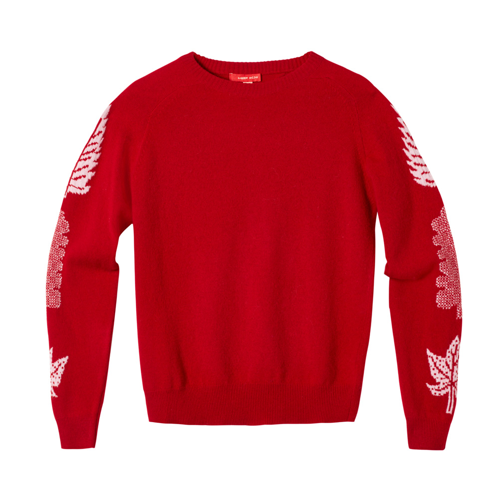 3 Leaf Sweater – Red
