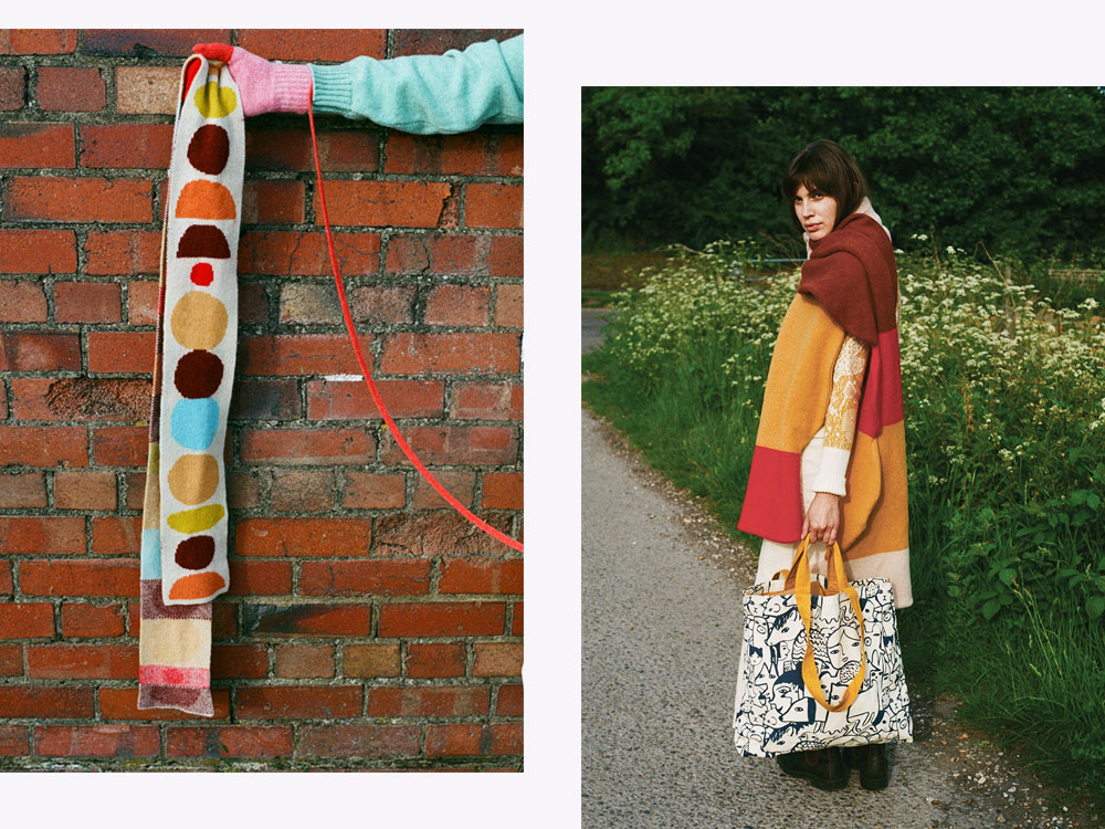 Cairn Scarf & Wide Pebble Scarf