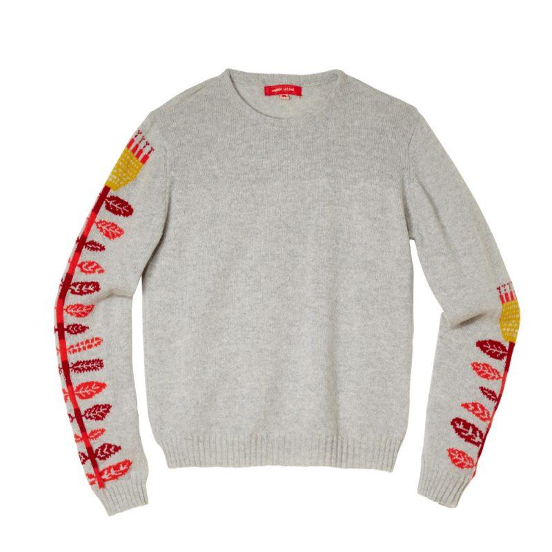 Donna Wilson Flower Sweater Grey