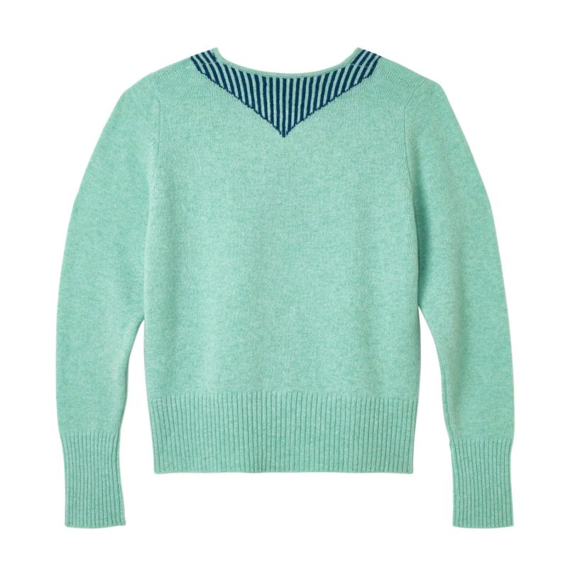 Donna Wilson - Scout Neck Sweater - Jade - Reverse