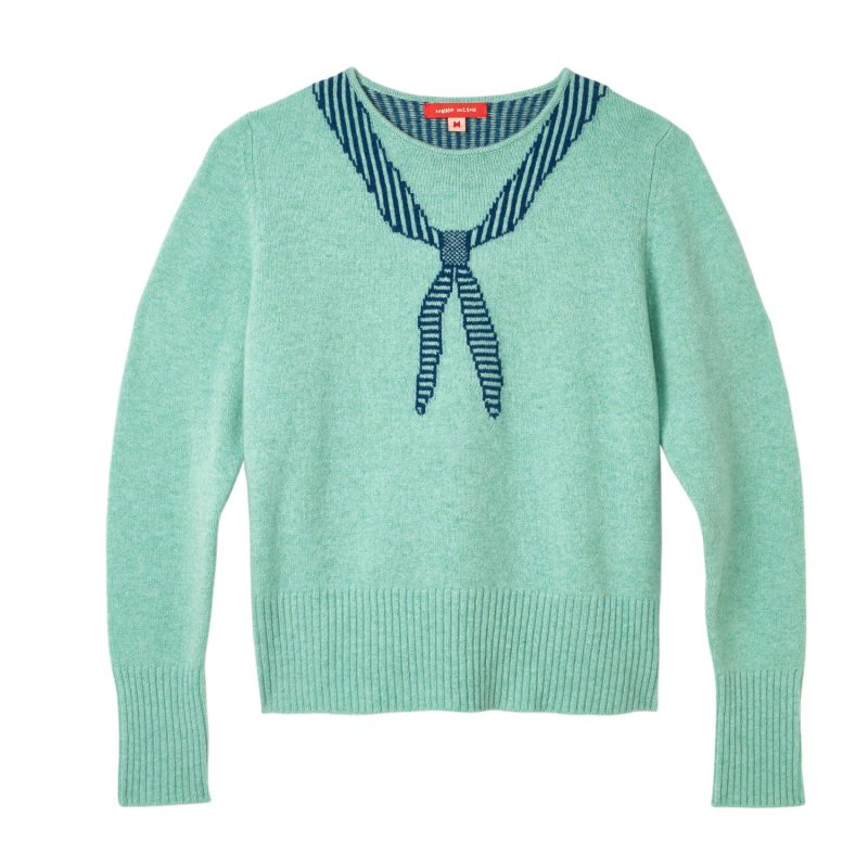Donna Wilson - Scout Neck Sweater - Jade - Front