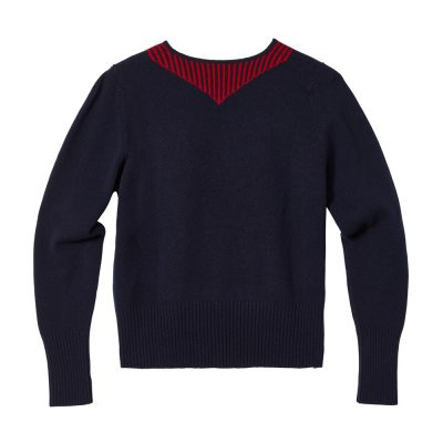 Donna Wilson - Scout Neck Sweater - Navy - Back