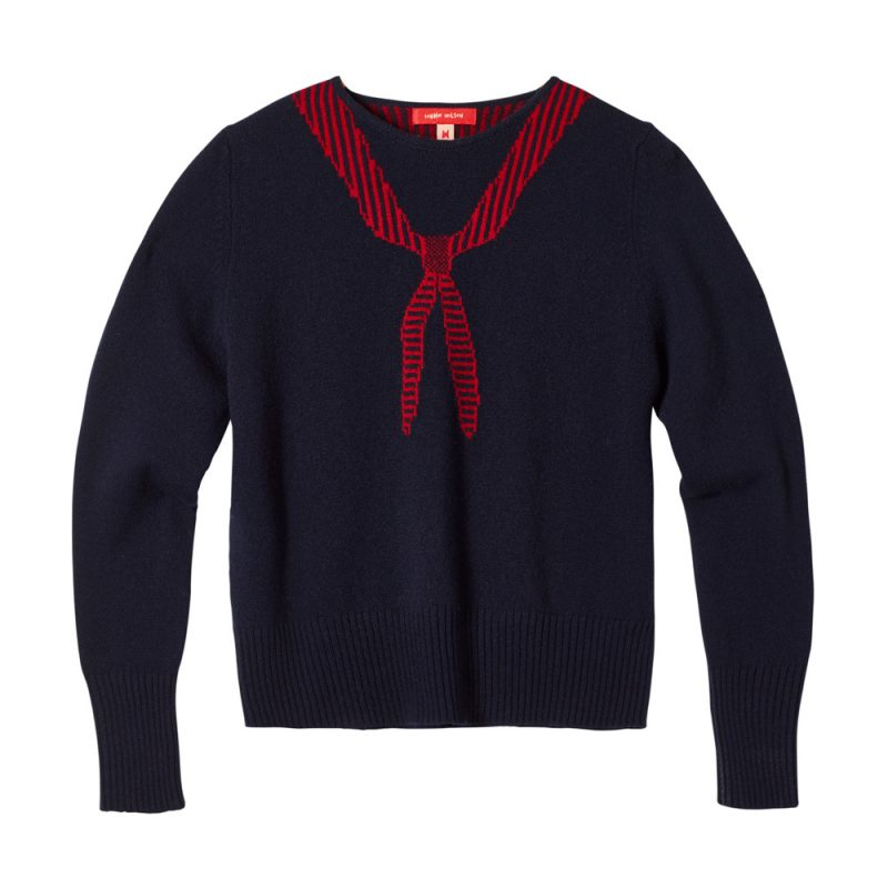 Donna Wilson - Scout Neck Sweater - Navy - Front