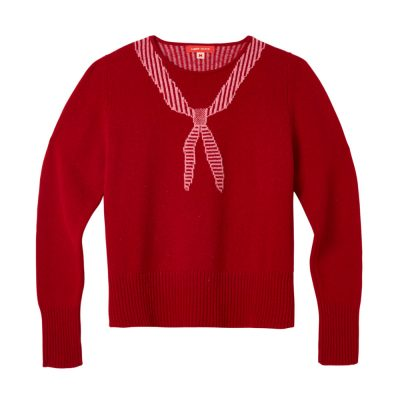 Donna Wilson - Scout Neck Sweater - Red - Front