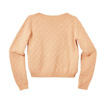 Basket Weave Sweater - Pale Madder - Donna Wilson