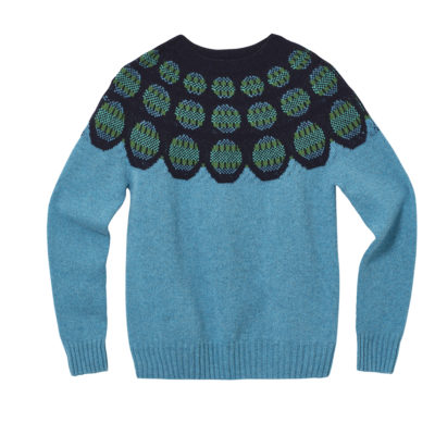 Garland Yoke Sweater - Blue - Donna Wilson